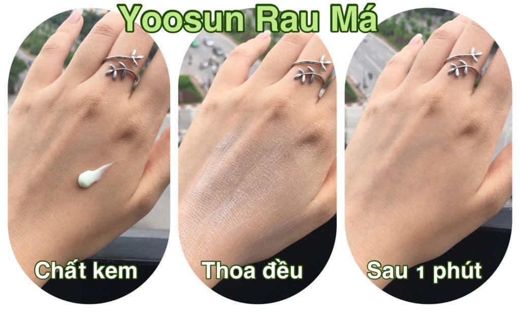 Kem rau má Yoosun hoàn toàn an toàn cho sức khỏe người dùng